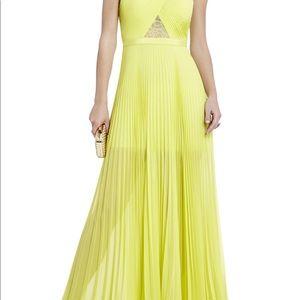 BCBG Maxazria Caia Chiffon-Pleated Gown